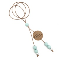BOHO split-drop silicone necklace